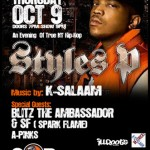 Styles P – An Evening of True NY Hip-Hop (10/9/08) @ S.O.B.'s, NYC.