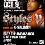 Styles P – An Evening of True NY Hip-Hop (10/9/08) @ S.O.B.'s, NYC.