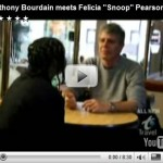 Anthony Bourdain Meets Snoop from The Wire.