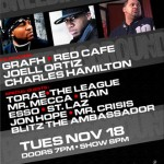 Breeding Ground featuring Grafh, Joell Ortiz, Charles Hamilton, Red Cafe (11/18/08) @ S.O.B.'s, NYC.